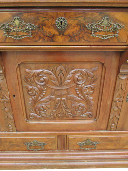 Eastlake Sideboard Wooden Nickel Antiques