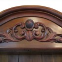 Arched Walnut Bookcase