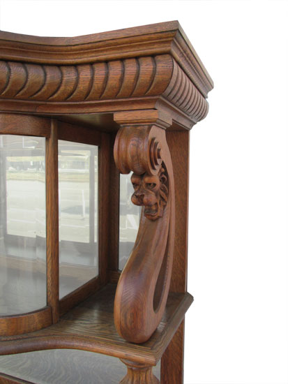 Oak Sideboard With Lions Wooden Nickel Antiques