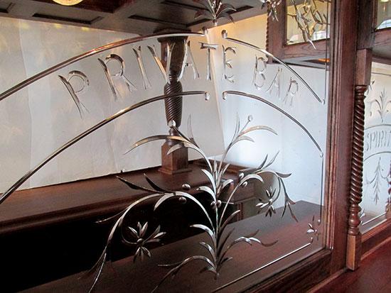Oak Pub Style Canopy Bar