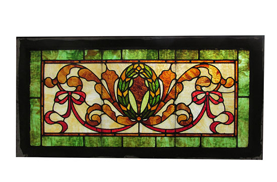 Stained Glass Beveled Glass Wooden Nickel Antiques