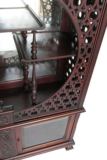 Walnut Fancy Etagere