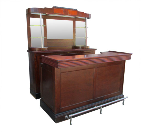 Small Art Deco Front And Back Bar