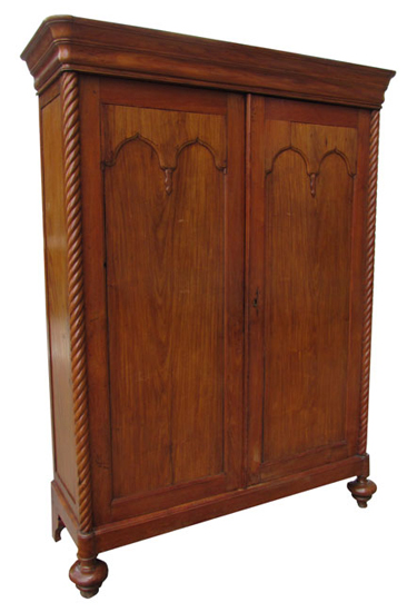 Early Antique Walnut Wardrobe