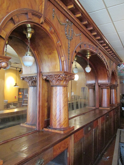 Brunswick Mahogany Triple Arch Front And Back Bar