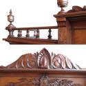 Walnut Renaissance Antique Bookcase, Circa 1870
