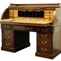 Antique English Mahogany Roll Top Desk