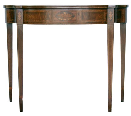 Reproduction Demi-Lune Tables With Inlay