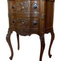 Pair Carved French Night Stands
