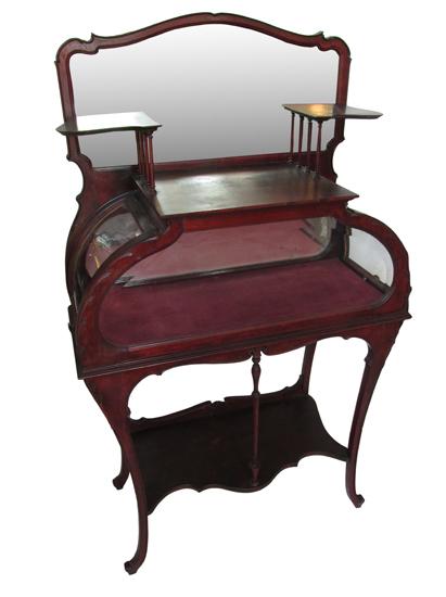 Unusual Mahogany Curio Cabinet