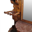Carved Walnut Renaissance  Antique Hall Tree