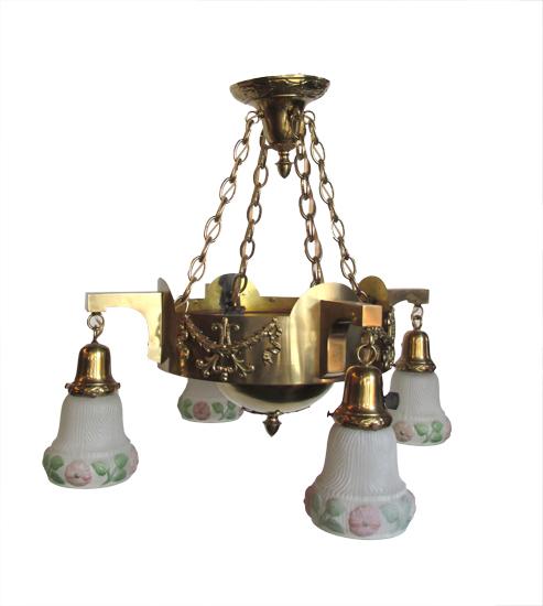 Four Arm Brass Light