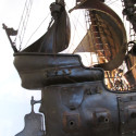 Rare Metal Sailing Ship Light