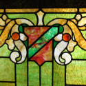 Single Green Stained Glass Window
