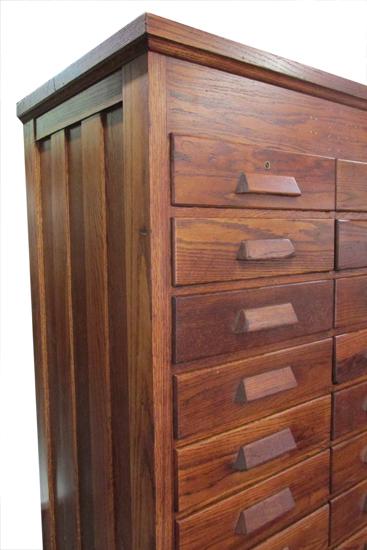 Tall Oak File Cabinet