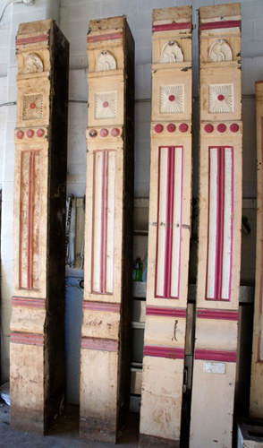 Cast Iron Store Front Columns Wooden Nickel Antiques