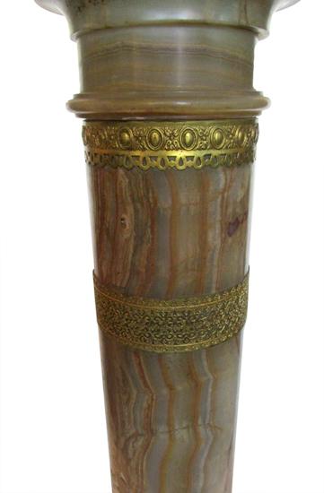 Onyx And Brass Pedestal