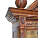 Arch Top French Walnut Cabinet