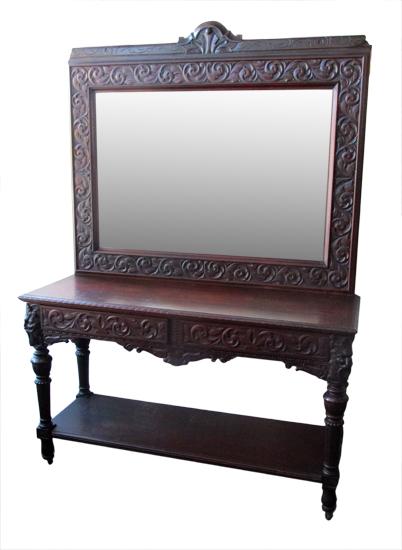 Horner Server With Beveled Mirror