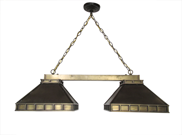 Brass Pool Table Light