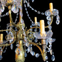 Brass & Crystal Chandelier