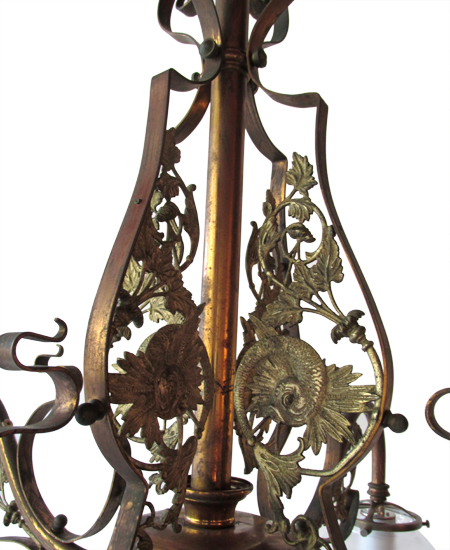 4 Arm  Brass Light With Fish
