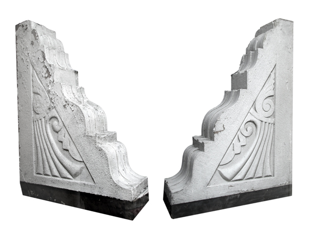 Pair Large Painted Corbels