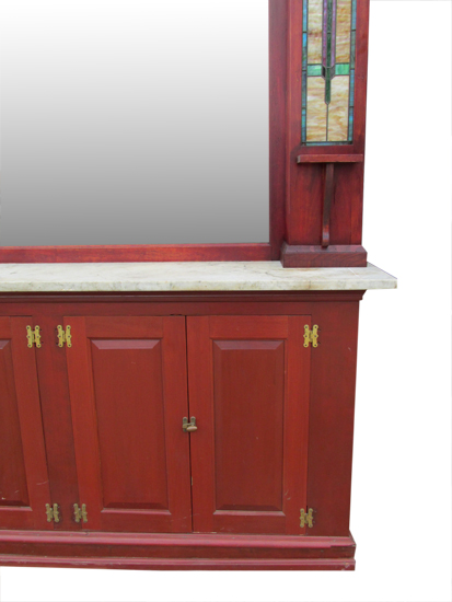 Marble Top Soda Fountain Bar Wooden Nickel Antiques