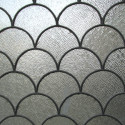 Large Arched Leaded Glass
