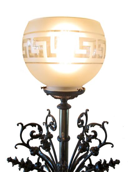 Glass Newel Post Light