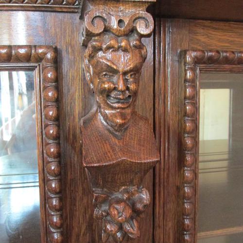 Carved Horner China Cabinet