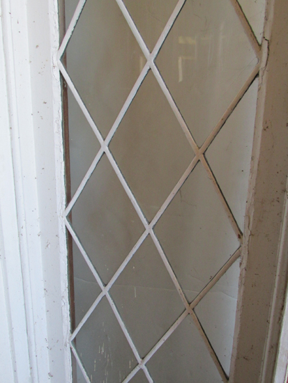 Entrance With Leaded Glass