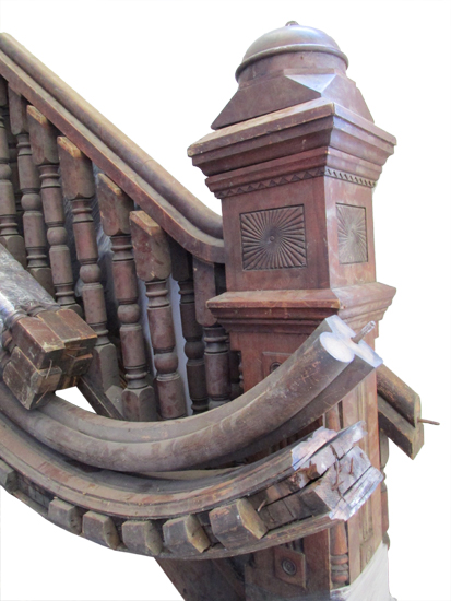Oak Stairs Rail & Newel Post