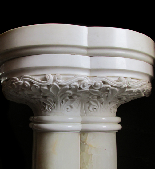 Pair Of Marble & Onyx Pedestals