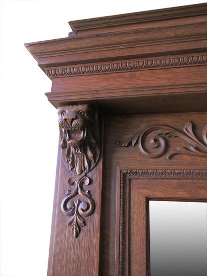 Carved Oak Mantel