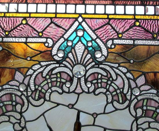 Large Stained & Beveled Window