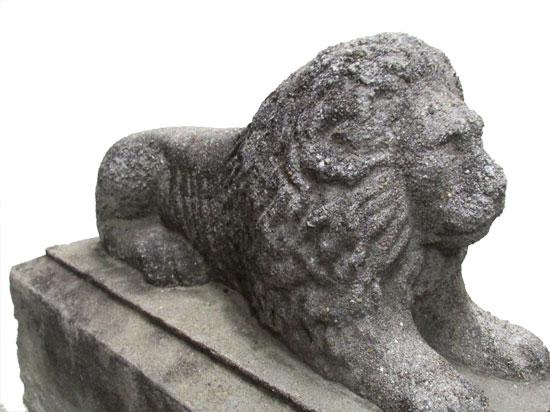 Cast Recumbent Lions