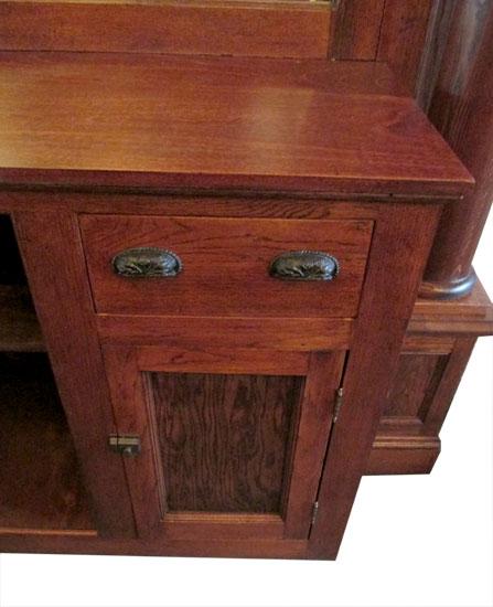 Oak Home Bar Wooden Nickel Antiques