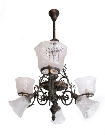 Gas & Electric Chandelier