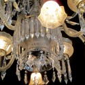 Gas & Electric Crystal Chandelier