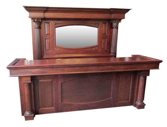 Walnut Front & Back Bar