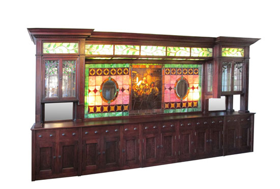 Stained Glass Back Bar