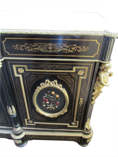 French Ebonized Buffet Wooden Nickel Antiques
