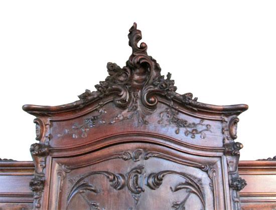 French Rococo Walnut Buffet