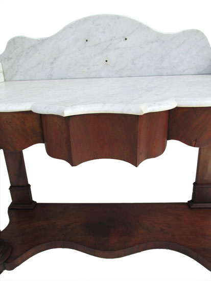 Empire Side Table With Marble Top