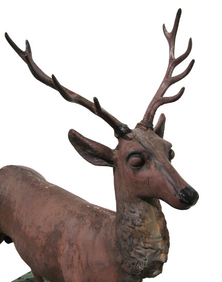 Fisk Cast Iron Deer Wooden Nickel Antiques