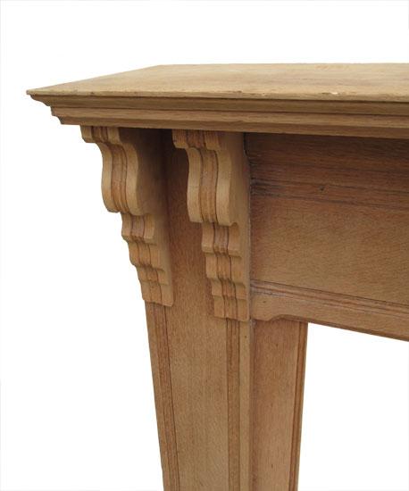 Unfinished Oak Half Mantel