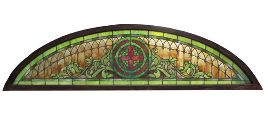 Large Arched Stained Glass Window