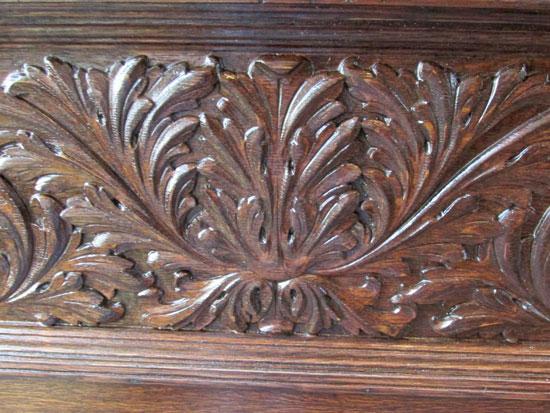 Carved Oak Door