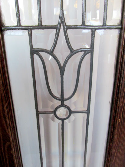 Pair Of Beveled Glass Sidelights